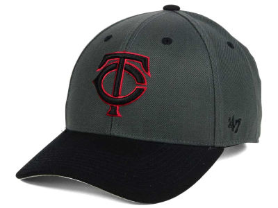 Minnesota Twins '47 MLB 2Tone Charcoal/Black Pop '47 MVP Cap