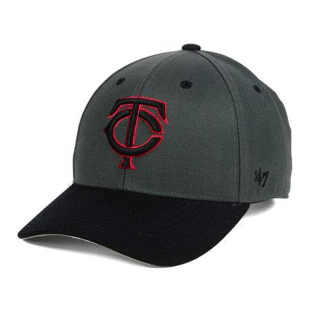 Minnesota Twins '47 MLB 2Tone Charcoal/Black Pop '47 MVP Cap