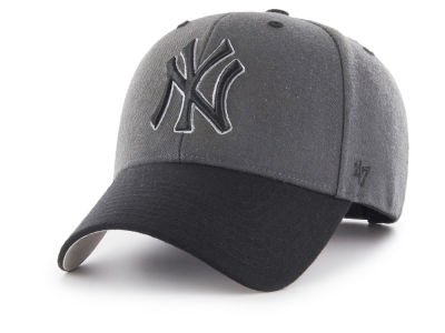 New York Yankees '47 MLB 2Tone Charcoal/Black Pop '47 MVP Cap