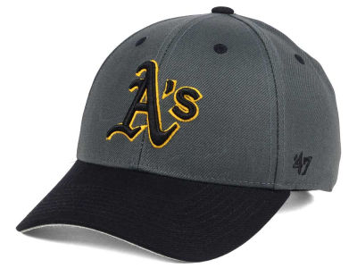 Oakland Athletics '47 MLB 2Tone Charcoal/Black Pop '47 MVP Cap
