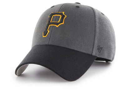 Pittsburgh Pirates '47 MLB 2Tone Charcoal/Black Pop '47 MVP Cap
