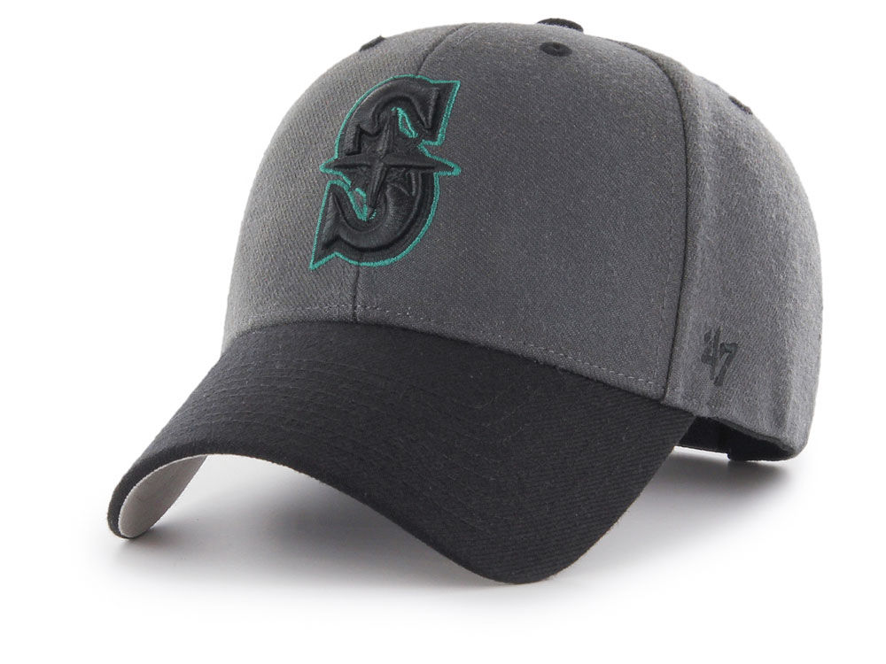 new style 72044 06123 purchase charcoal black mens seattle mariners 47 mlb 2tone mvp cap 20896366  2018 new style b08e2