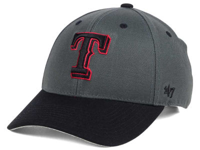 Texas Rangers '47 MLB 2Tone Charcoal/Black Pop '47 MVP Cap