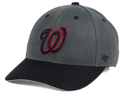 Washington Nationals '47 MLB 2Tone Charcoal/Black Pop '47 MVP Cap