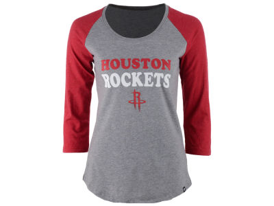 Houston Rockets NBA Women's Club Block Raglan T-Shirt