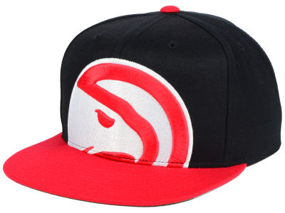 Atlanta Hawks Mitchell and Ness NBA Cropped XL Logo Snapback Cap