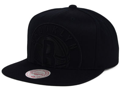 Brooklyn Nets Mitchell and Ness NBA Cropped XL Logo Snapback Cap