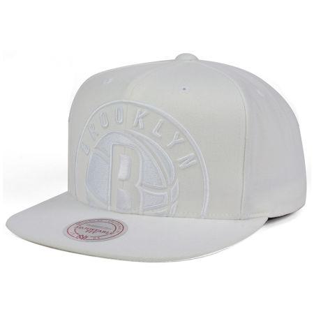 Brooklyn Nets Mitchell & Ness NBA Cropped XL Logo Snapback Cap