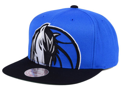 Dallas Mavericks Mitchell and Ness NBA Cropped XL Logo Snapback Cap