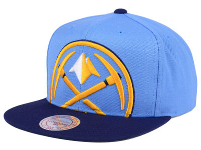 Denver Nuggets Mitchell & Ness NBA Cropped XL Logo Snapback Cap