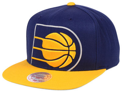 Indiana Pacers Mitchell & Ness NBA Cropped XL Logo Snapback Cap