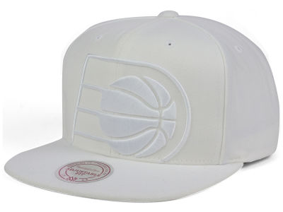 Indiana Pacers Mitchell and Ness NBA Cropped XL Logo Snapback Cap