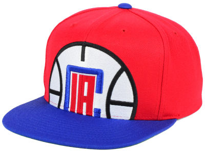 Los Angeles Clippers Mitchell and Ness NBA Cropped XL Logo Snapback Cap