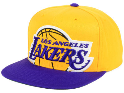 Los Angeles Lakers Mitchell & Ness NBA Cropped XL Logo Snapback Cap