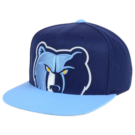 Memphis Grizzlies Mitchell & Ness NBA Cropped XL Logo Snapback Cap