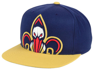 New Orleans Pelicans Mitchell and Ness NBA Cropped XL Logo Snapback Cap