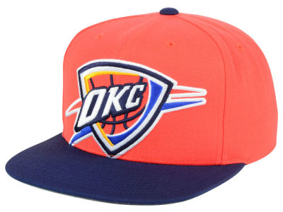 Oklahoma City Thunder Mitchell and Ness NBA Cropped XL Logo Snapback Cap