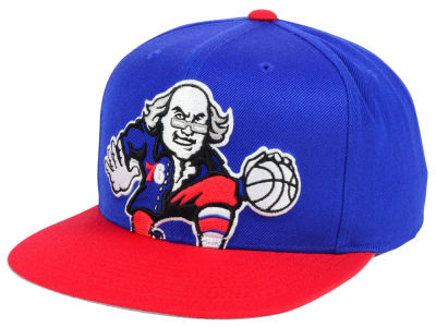Philadelphia 76ers Mitchell and Ness NBA Cropped XL Logo Snapback Cap