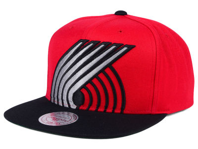 Portland Trail Blazers Mitchell and Ness NBA Cropped XL Logo Snapback Cap