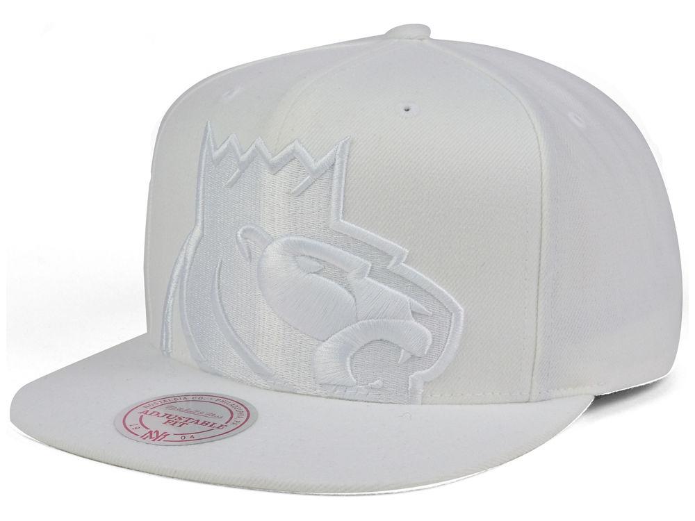 Sacramento Kings Mitchell   Ness NBA Cropped XL Logo Snapback Cap ... 7053284680bf