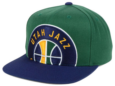 Utah Jazz Mitchell and Ness NBA Cropped XL Logo Snapback Cap