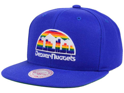Denver Nuggets Mitchell & Ness NBA Hardwood Classic Basic Logo Snapback Cap