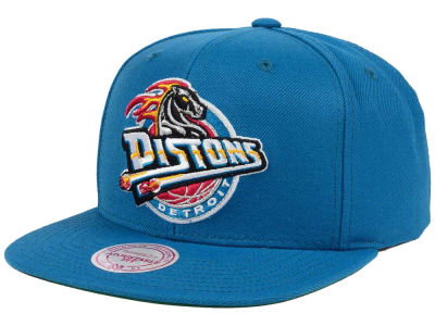 Detroit Pistons Mitchell and Ness NBA Hardwood Classic Basic Logo Snapback Cap