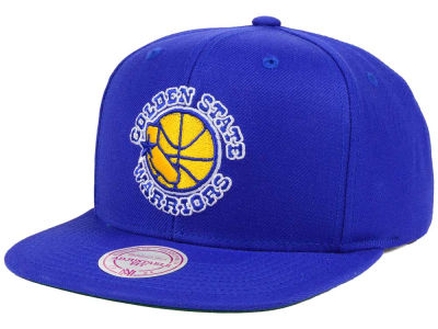 San Francisco Warriors Mitchell and Ness NBA Hardwood Classic Basic Logo Snapback Cap