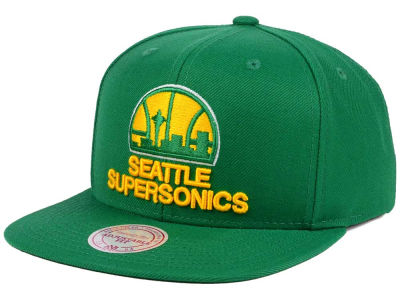 Seattle SuperSonics Mitchell & Ness NBA Hardwood Classic Basic Logo Snapback Cap