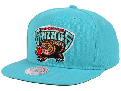 Vancouver Grizzlies Mitchell and Ness NBA Hardwood Classic Basic Logo Snapback Cap