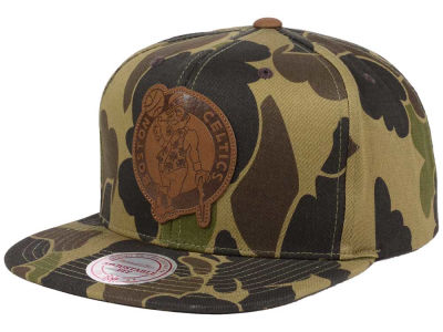 Boston Celtics Mitchell and Ness NBA Lux Camo Snapback Cap