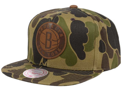 Brooklyn Nets Mitchell and Ness NBA Lux Camo Snapback Cap