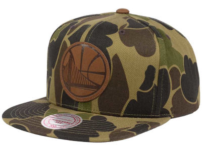 Golden State Warriors Mitchell and Ness NBA Lux Camo Snapback Cap