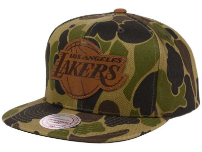 Los Angeles Lakers Mitchell & Ness NBA Lux Camo Snapback Cap