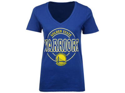 Golden State Warriors NBA Women's Circle Glitter T-Shirt