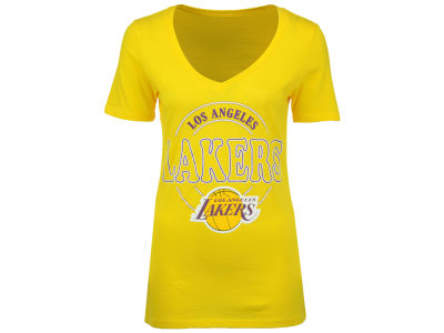 Los Angeles Lakers 5th & Ocean NBA Women's Circle Glitter T-Shirt