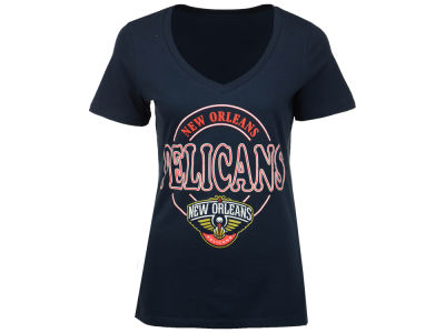 New Orleans Pelicans 5th & Ocean NBA Women's Circle Glitter T-Shirt