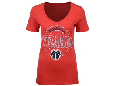 Washington Wizards NBA Women's Circle Glitter T-Shirt