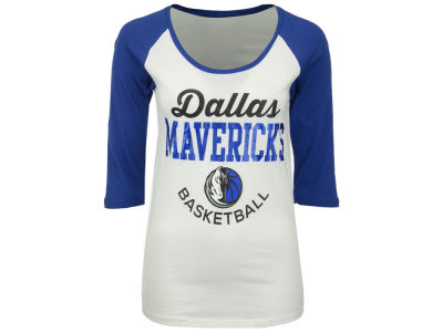 Dallas Mavericks 5th & Ocean NBA Women's Side Zone Raglan T-Shirt