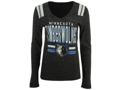 Minnesota Timberwolves 5th & Ocean NBA Women's Free Kick Long Sleeve T-Shirt
