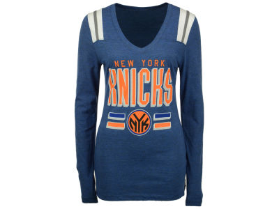 New York Knicks NBA Women's Free Kick Long Sleeve T-Shirt
