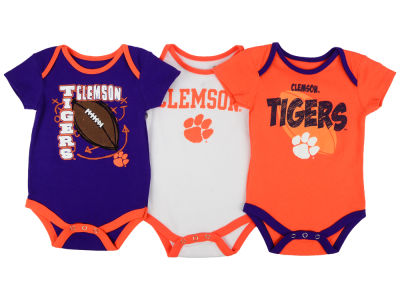 Clemson Tigers NCAA Newborn 3 Points 3-Piece Creeper Set