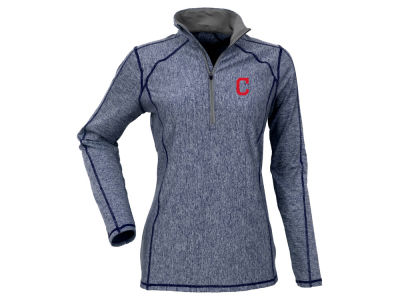Cleveland Indians Antigua MLB Women's Tempo Quarter Zip Pullover