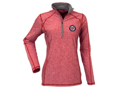 Washington Nationals Antigua MLB Women's Tempo Quarter Zip Pullover