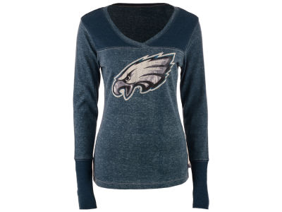 Philadelphia Eagles GIII NFL Women's Goal Line Long Sleeve T-Shirt
