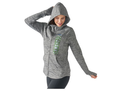 Seattle Seahawks G-III Sports NFL Women's Recovery Full Zip Hooded Sweatshirt
