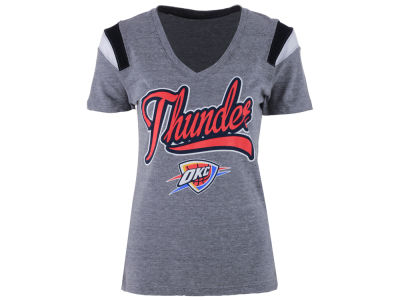 Oklahoma City Thunder 5th & Ocean NBA Women's Shoulder Fadeaway T-Shirt