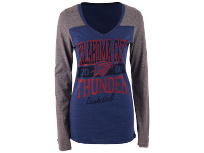 Oklahoma City Thunder 5th & Ocean NBA Women's Dunk Long Sleeve T-Shirt