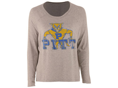Pittsburgh Panthers Retro Brand NCAA Women's Vintage Long Sleeve T-Shirt
