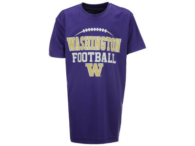 Washington Huskies Colosseum NCAA Youth Football Laces Poly T-Shirt